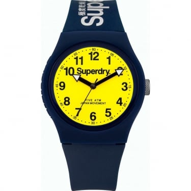 Superdry Gents Urban Navy Yellow Watch