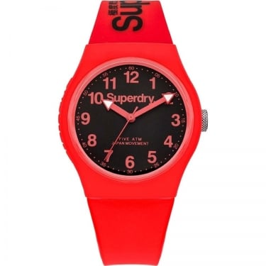 Superdry Gents Urban Red Black Watch