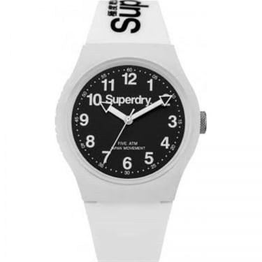 Superdry Gents Urban White Black Watch