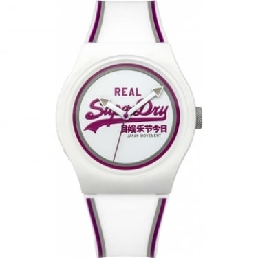 Superdry Gents Urban White Purple Watch