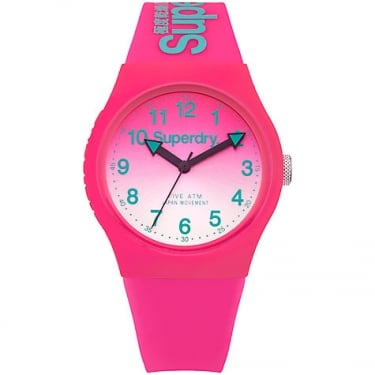 Superdry Ladies Campus Pink White Watch