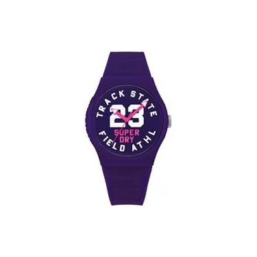 Superdry Ladies Purple Urban Track and Field Watch