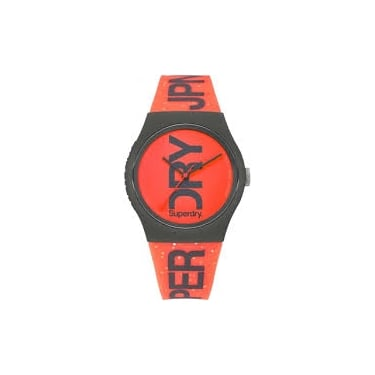 Superdry Unisex Red Urban Glitter Watch