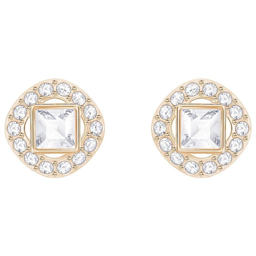 Swarovski Angelic Square Rose Gold Stud Earrings - Jewellery from ... a11d1d29de