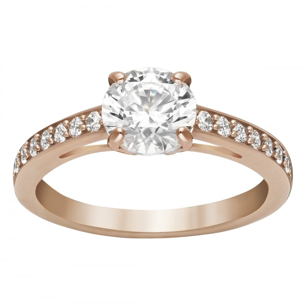 b6635ed02 Swarovski Attract Rose Gold with Cubic Zirconia Ring - Jewellery ...