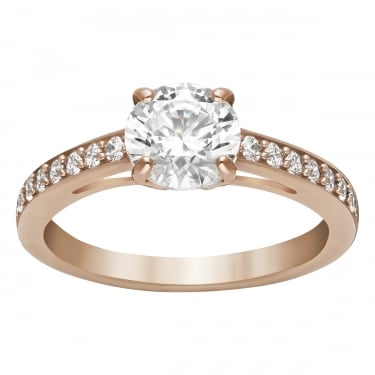 Swarovski Attract Rose Gold with Cubic Zirconia Ring