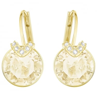 Swarovski Bella Brown Yellow Gold Coloured Earrings