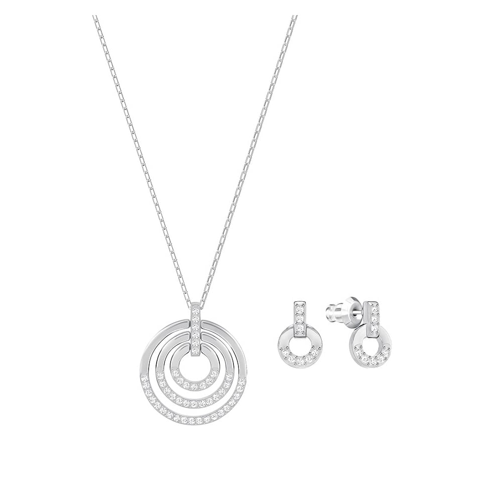 Swarovski circle pendant earring set sets from faith jewellers uk swarovski circle pendant amp earring set aloadofball Image collections