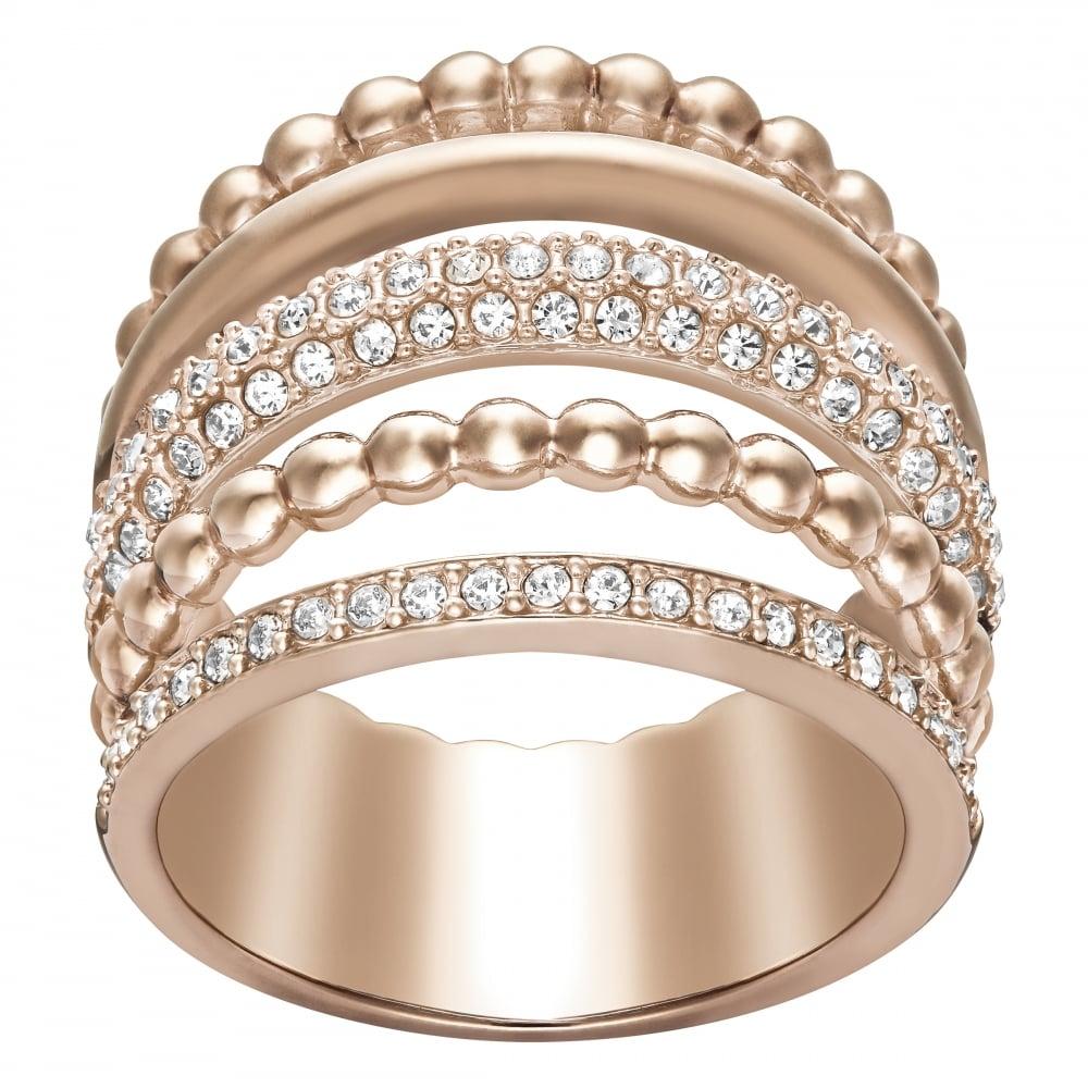 Swarovski Swarovski Click Rose Gold Ring Sizze 55