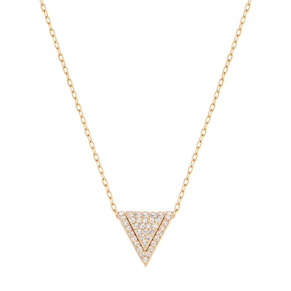 Swarovski delta rose gold pendant jewellery from faith jewellers uk swarovski delta rose gold pendant aloadofball Choice Image
