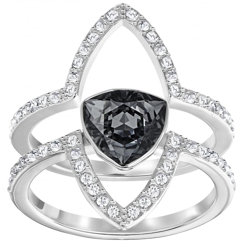 Swarovski Fantastic Grey Silver Ring - Jewellery from Faith Jewellers UK c3a322f144