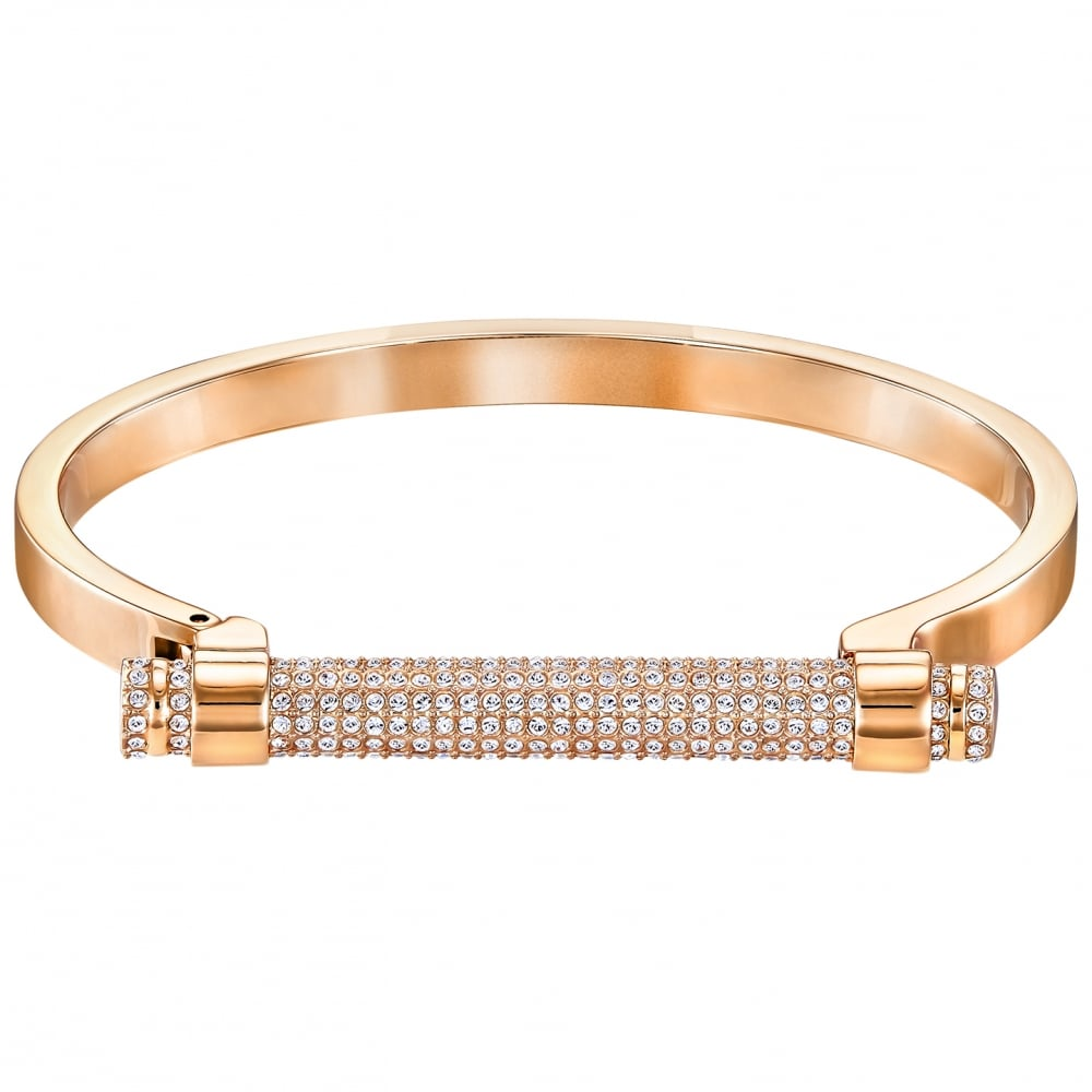 disculpa Tierra trolebús  Swarovski Friend Bangle Rose Gold - Jewellery from Faith Jewellers UK