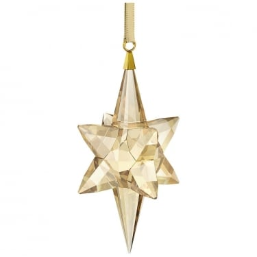 Swarovski Large Gold Tone Shooting Star Ornament