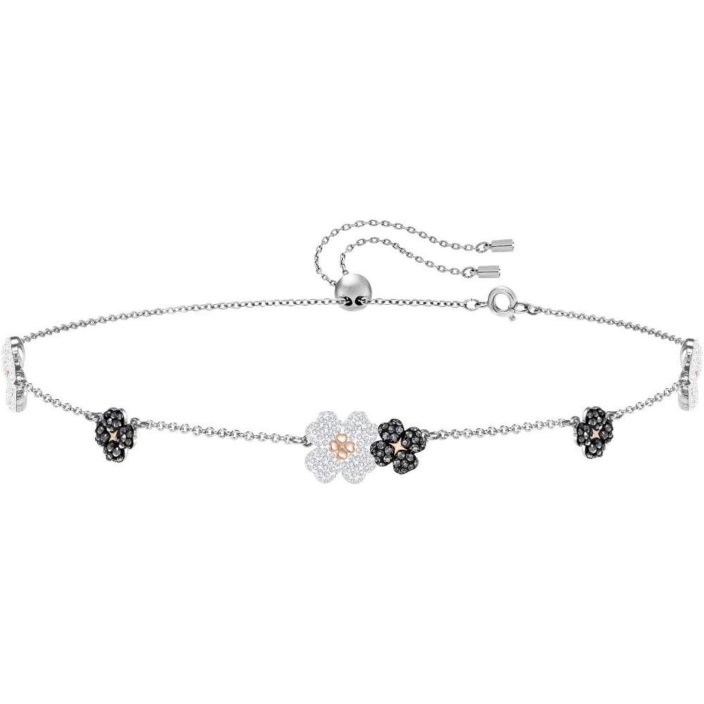 684f777d6 Swarovski Latisha Flower Silver Crystal Necklace - Jewellery from ...