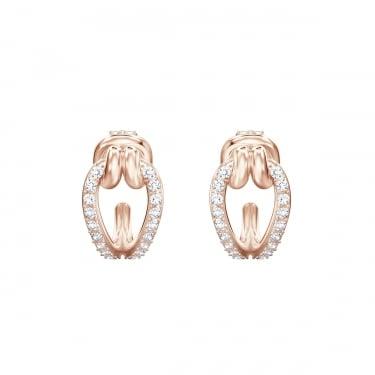 b2eb818855 Swarovski Lifelong Hoop Rose Gold Crystal Earrings
