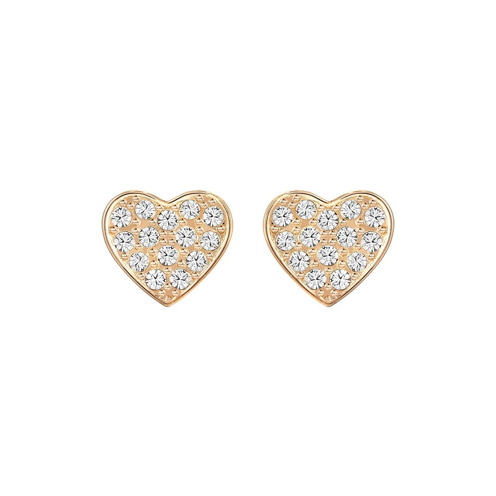Swarovski Rose Gold Pave Crystal Heart Earring - Jewellery from ... ce6f46cef9