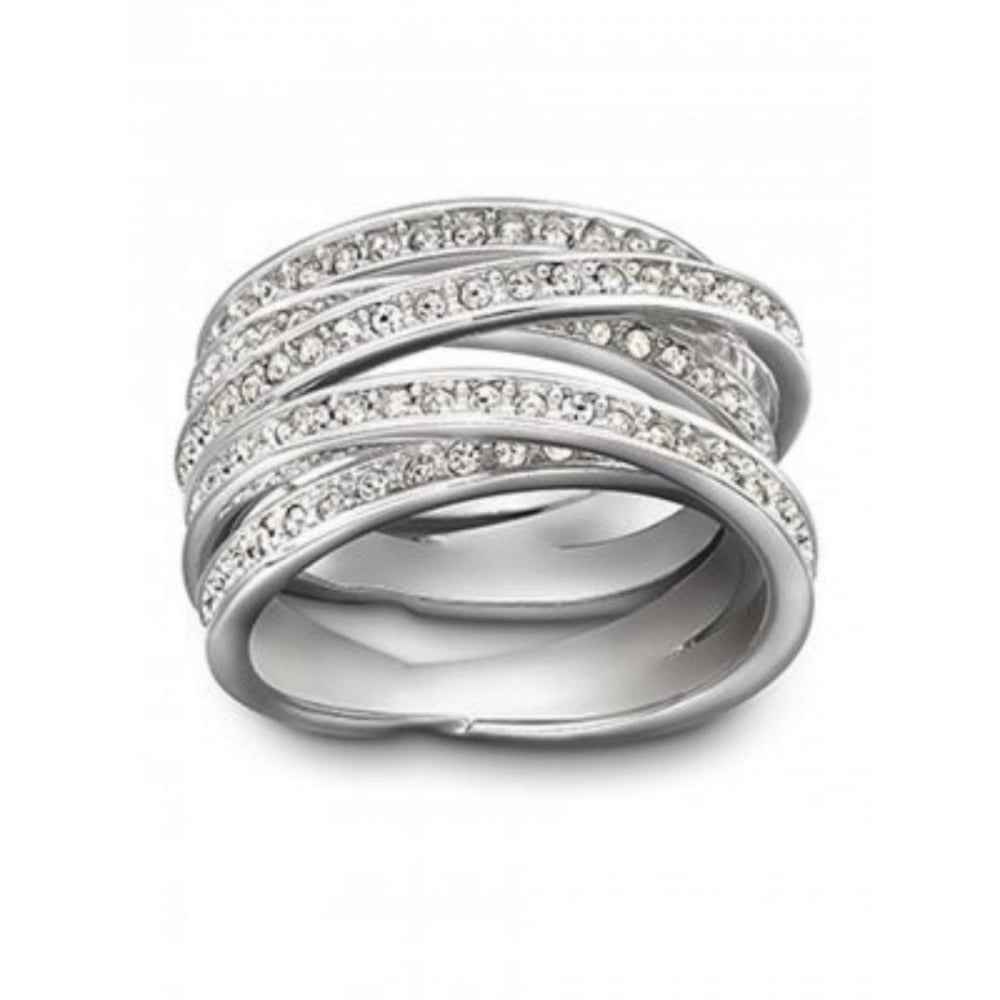 867e98abc3 Swarovski Silver Spiral Ring - Jewellery from Faith Jewellers UK