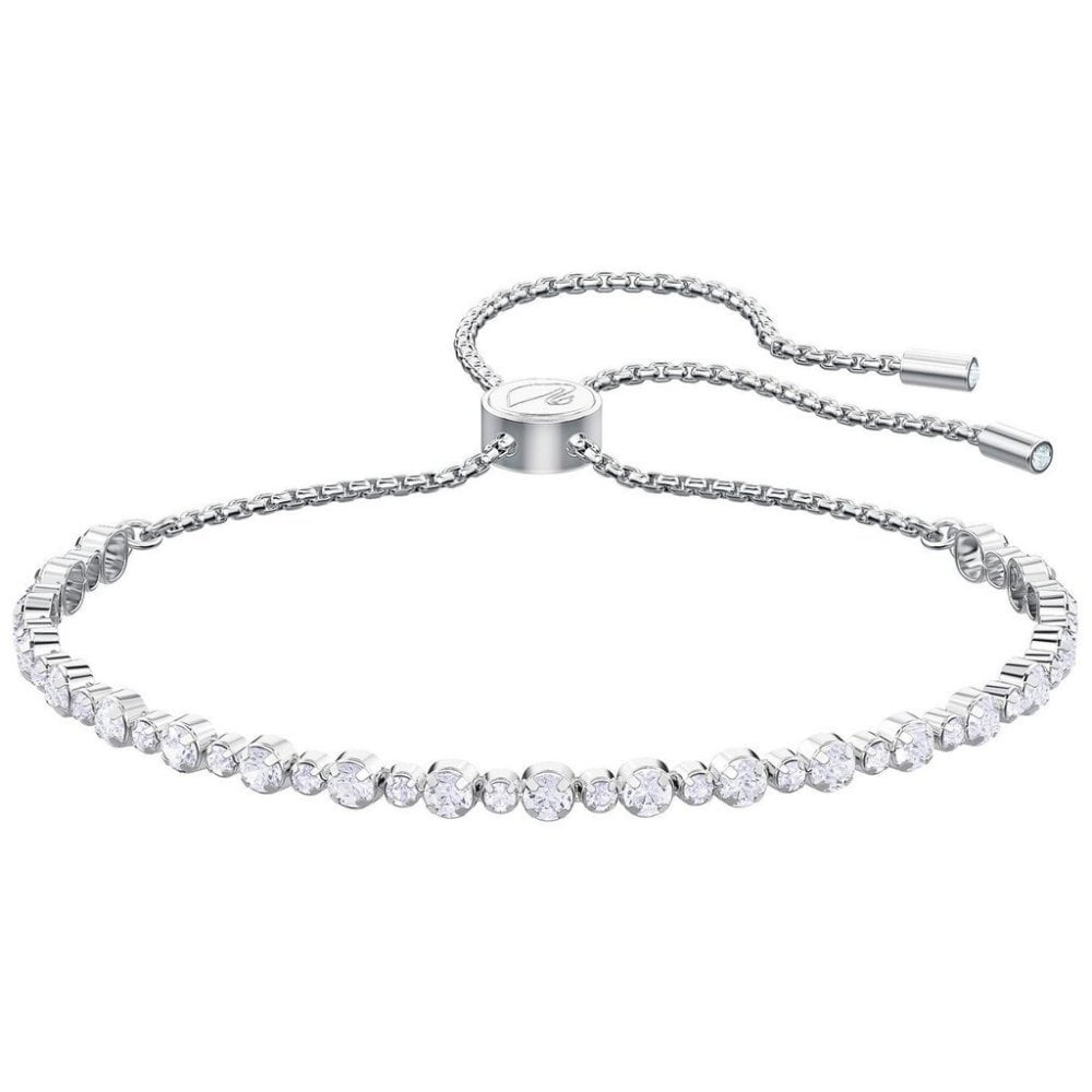 new release new selection factory outlets Silver White Crystal Bracelet