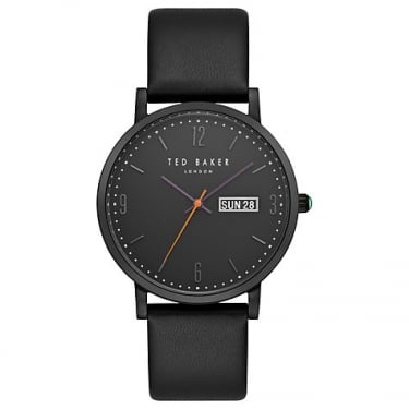 Ted Baker Gents Black Leather Grant Watch