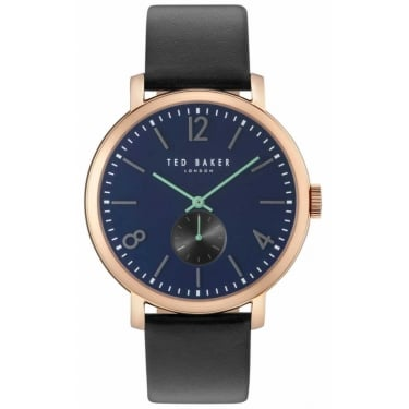 Ted Baker Gents Black Leather Oliver Watch