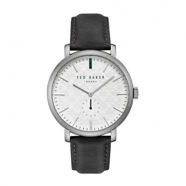 Ted Baker Gents Black Leather Trent Watch