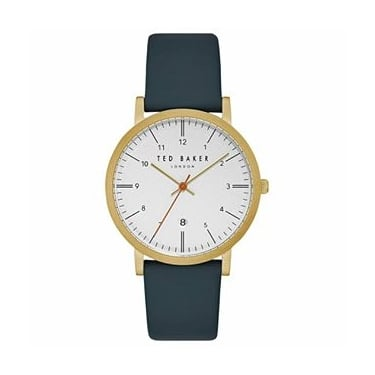 Ted Baker Gents Navy Leather Samuel Watch