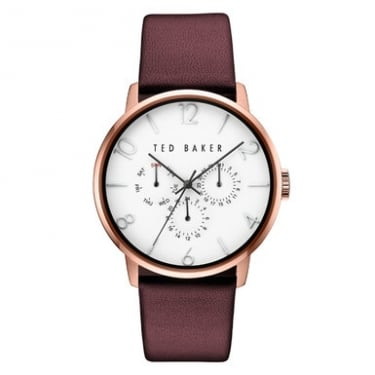 Ted Baker Gents Rose Gold Tone Watch