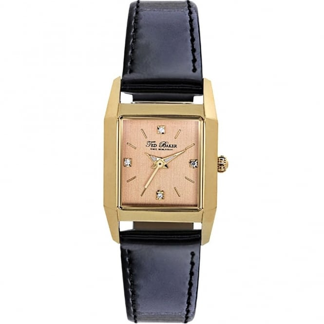 Ted Baker Ladies Black Leather Watch