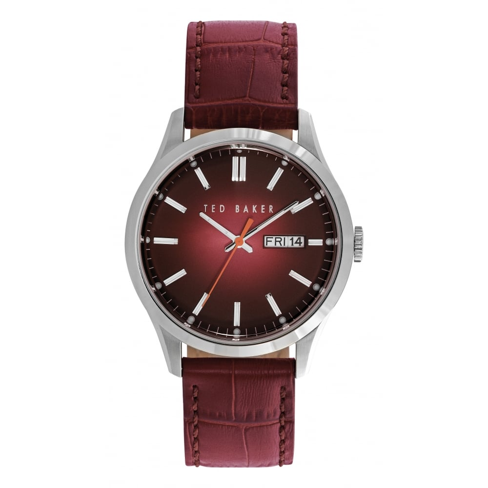 p womens ted leather strap baker watches watch accessories azelea multi dial row maroon