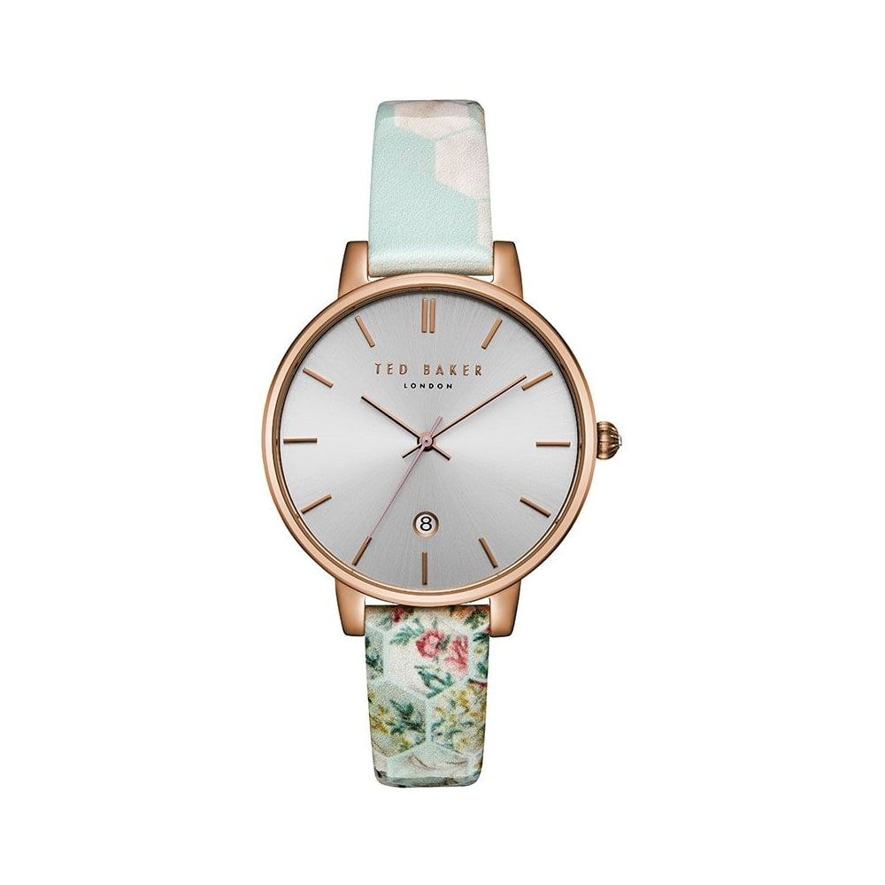b2c0d1fc4 Ted Baker Ladies Floral Pattern Leather Kate Watch - Women s Watches ...