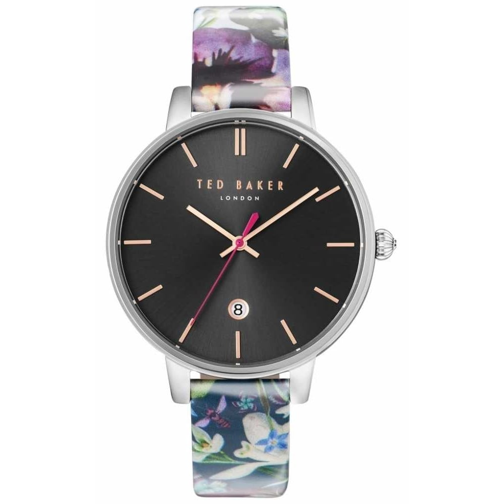 b548a96f0 Ted Baker Ladies Purply Floral Pattern Leather Kate Watch - Women's ...