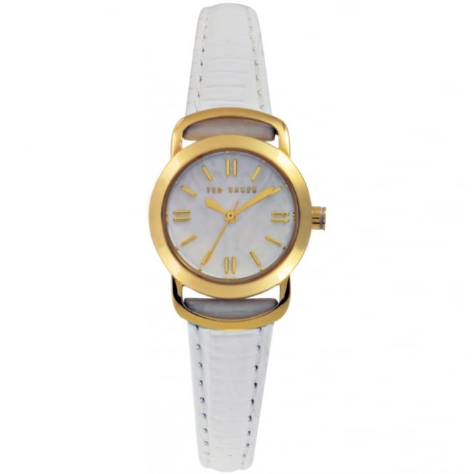 Ted Baker Ladies White Leather Watch
