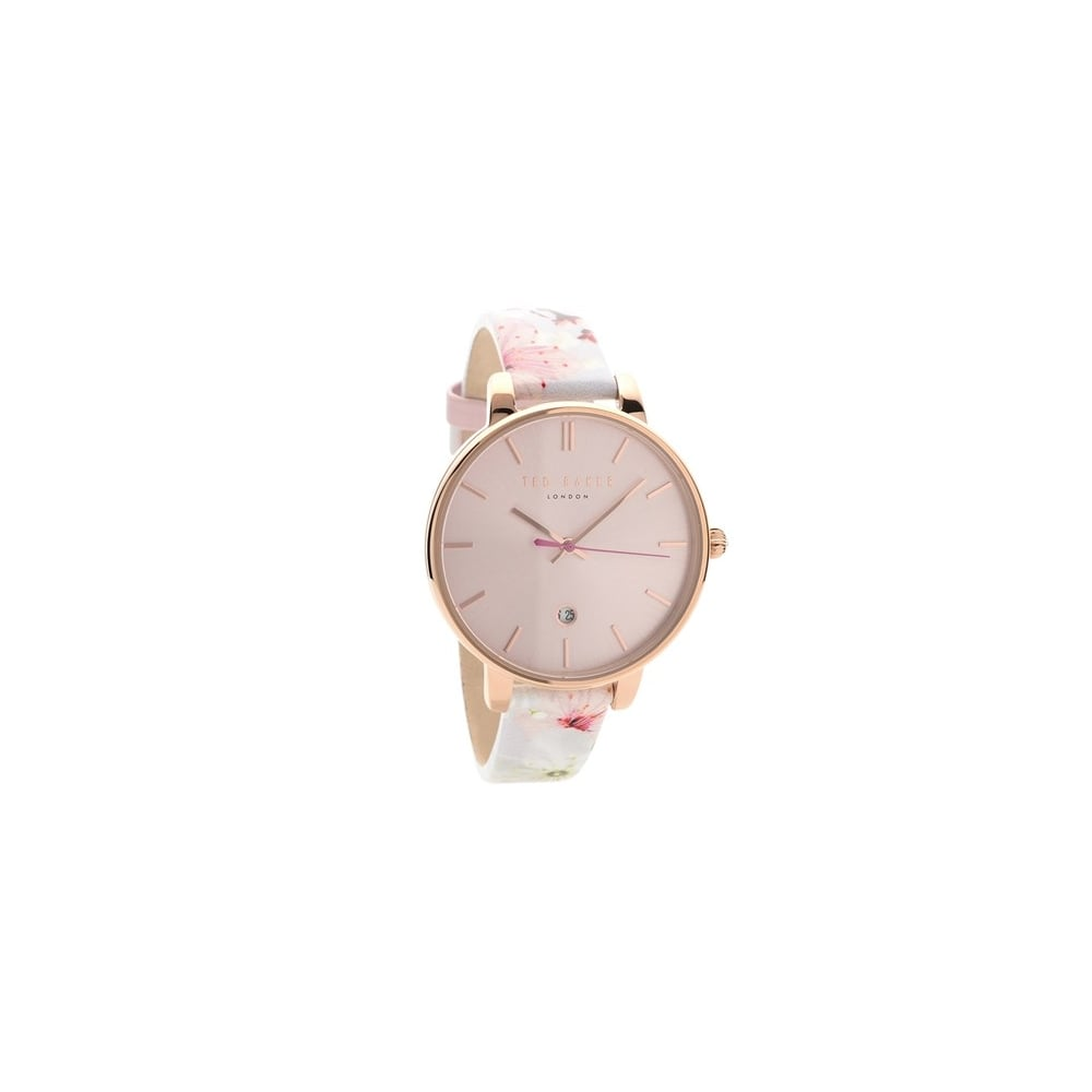 3805840de Ted Baker Ladies White Pink Floral Kate Watch - Women s Watches from ...