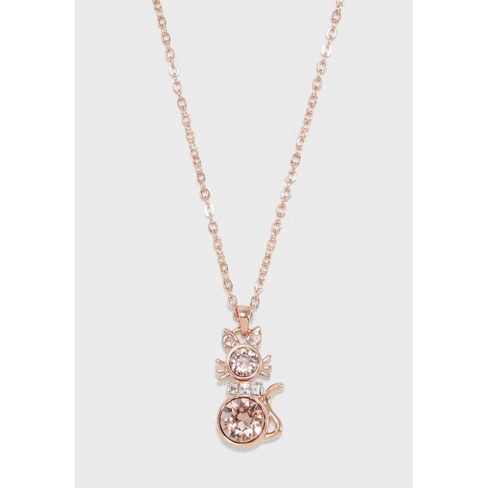 Ted Baker Salima Swarovski Crystal Cat Pendant Rose Gold Pink Jewellery From Faith Jewellers Uk