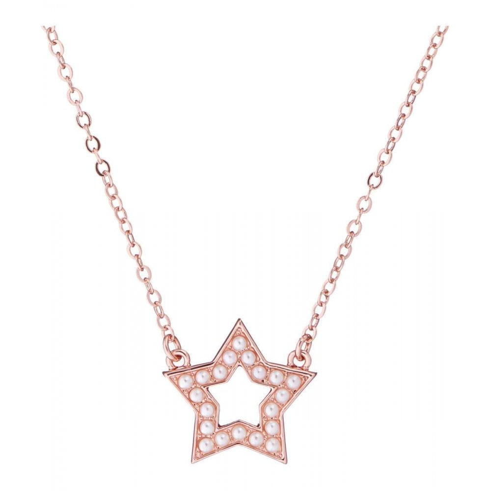 Ted Baker Shakera Enchanted Open Star Rose Gold Necklace 46 48cm Necklaces From Faith Jewellers Uk