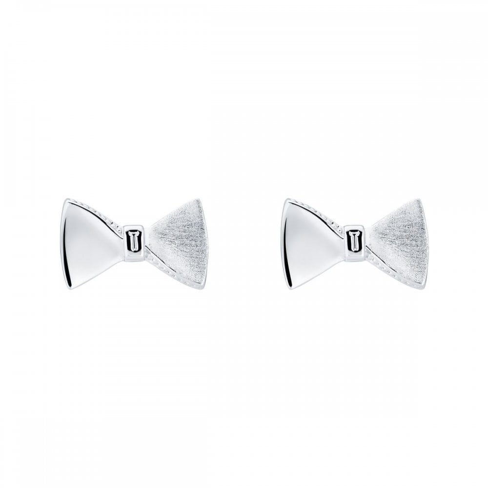 e6ed0f6dc Ted Baker Silver Bow Earrings - Jewellery from Faith Jewellers UK