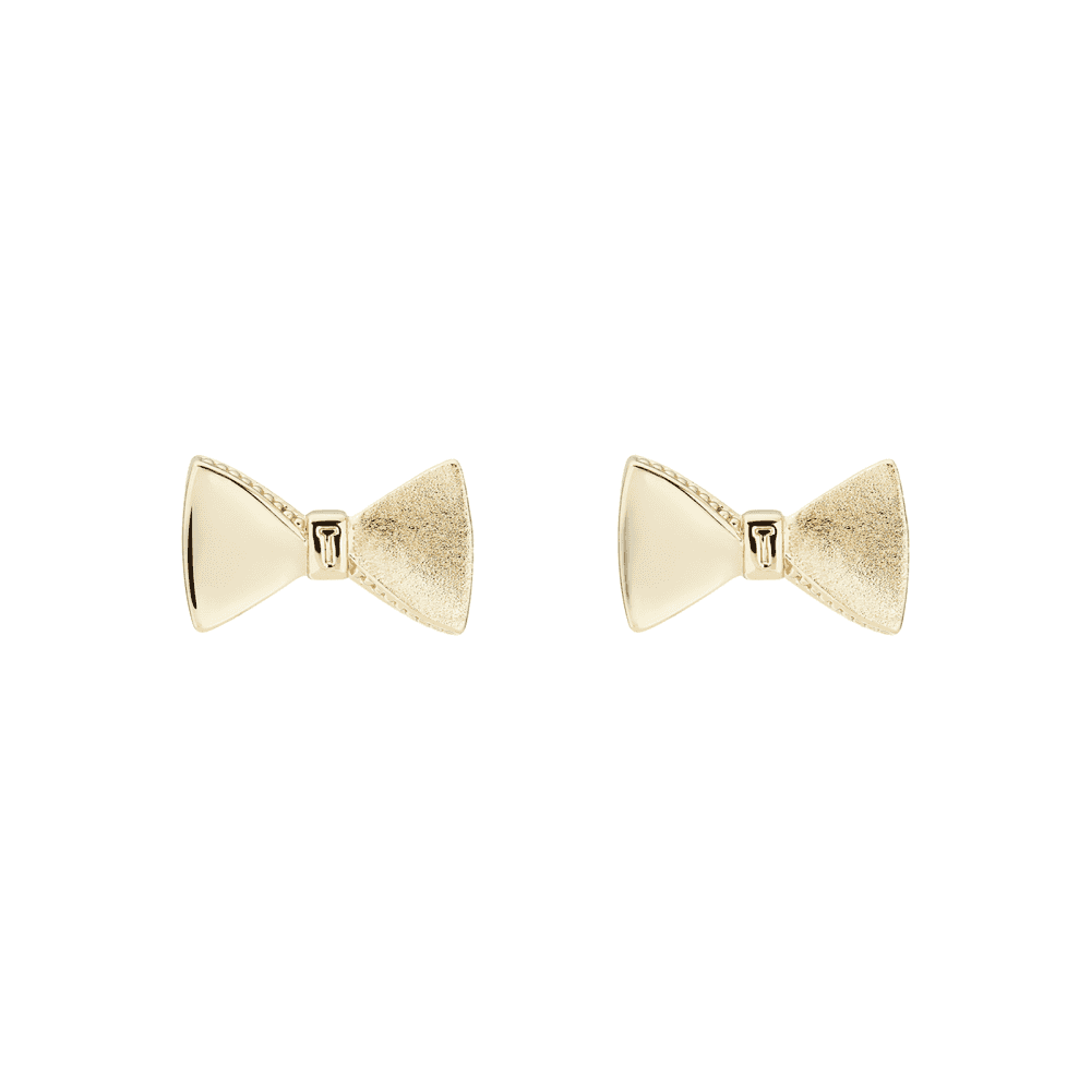 7a02e690e Ted Baker Yellow Gold Bow Earrings - Jewellery from Faith Jewellers UK