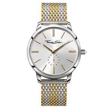 Thomas Sabo 33mm Ladies Yellow Gold with Colour Stripes Watch