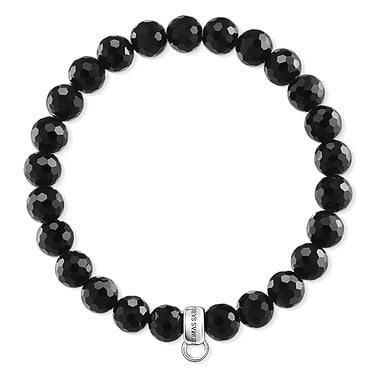 Thomas Sabo Black Onyx Beaded Bracelet 17cm