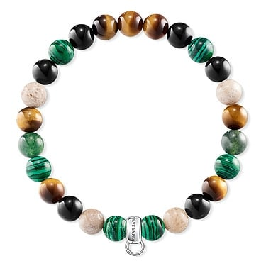 Thomas Sabo Multi Coloured Beaded Bracelet 15cm