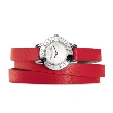 Thomas Sabo Red Leather Strap/White Face Watch