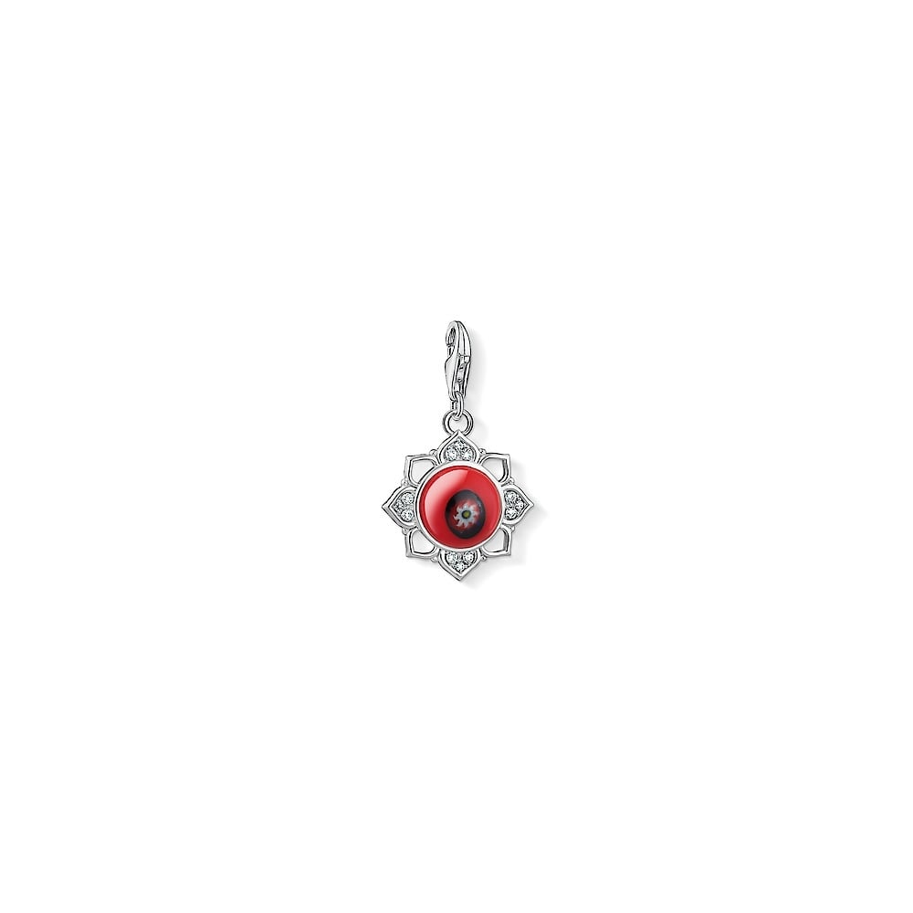 Thomas sabo red lotus flower silver charm jewellery from faith thomas sabo red lotus flower silver charm izmirmasajfo