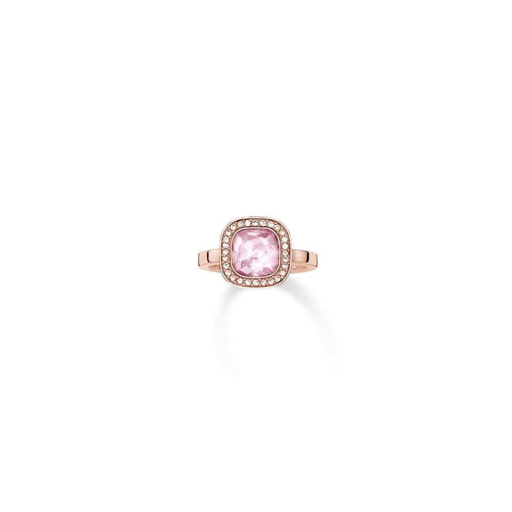 beautiful lady engagement ring aaa wedding rings pink rose morden plated square stone cheap for zirconia product gold silver c women