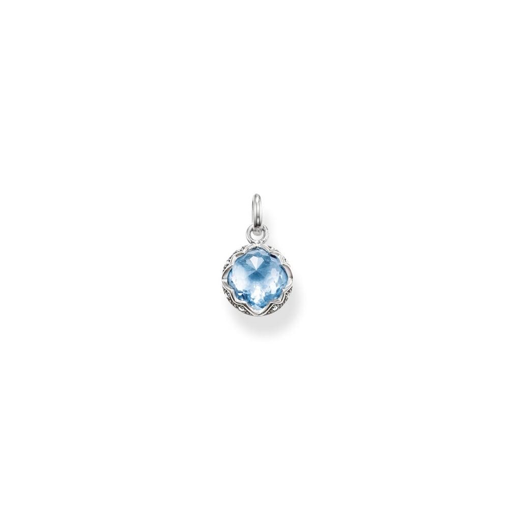 Thomas sabo silver and light blue stone pendant jewellery from thomas sabo silver and light blue stone pendant aloadofball Choice Image