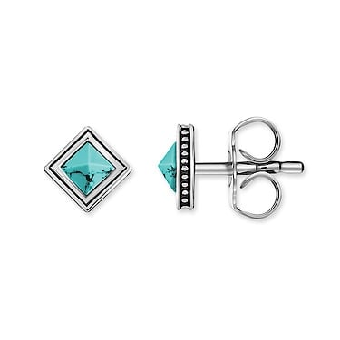 Thomas Sabo Silver Square Turquoise Stud Earrings