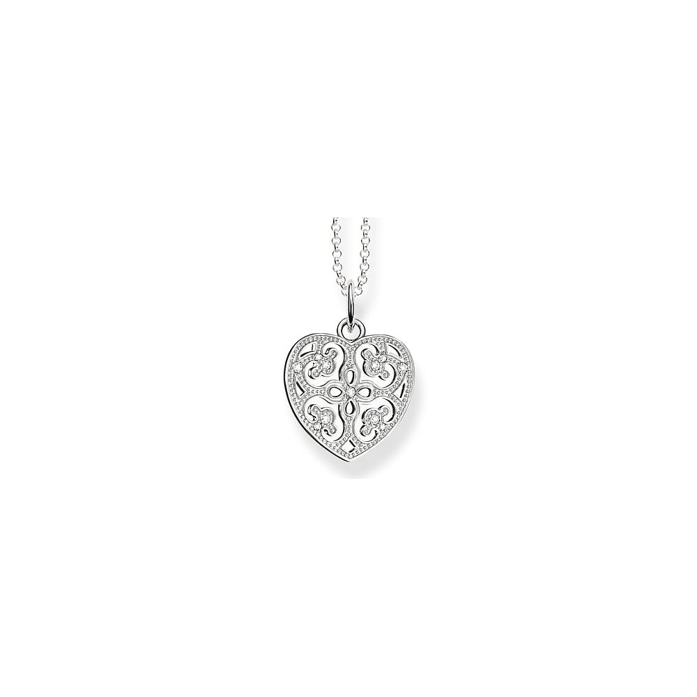 Thomas sabo sterling silver cz heart necklace jewellery from faith thomas sabo sterling silver cz heart necklace aloadofball Choice Image