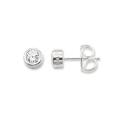 Thomas Sabo Sterling Silver CZ Stud Earrings