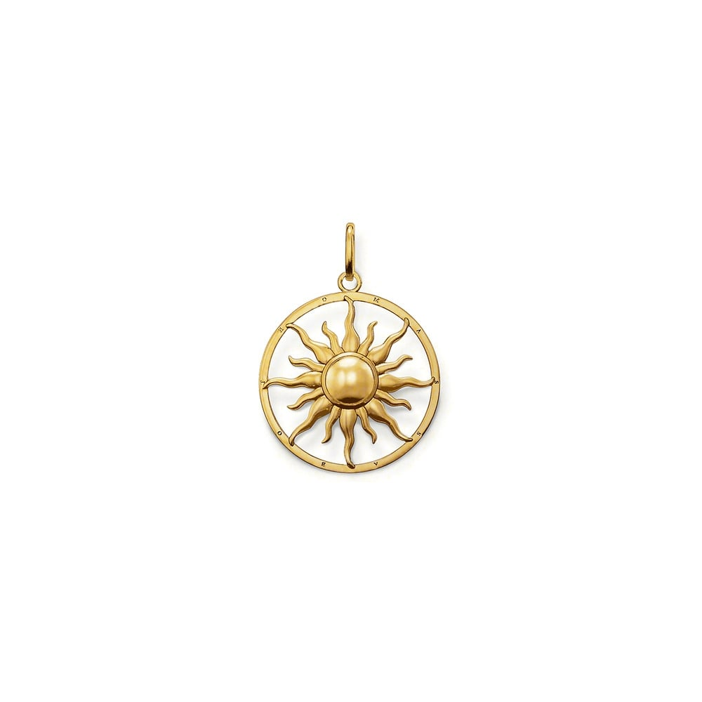 Thomas sabo yellow gold plated sun pendant jewellery from faith thomas sabo yellow gold plated sun pendant aloadofball Choice Image
