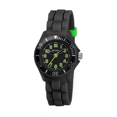 Tikkers Black Rubber Watch