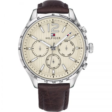 Tommy Hilfiger Gents Gavin Brown Leather Watch